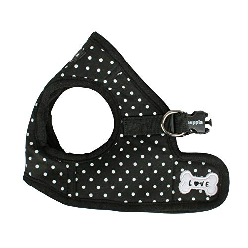 Puppia Dotty Harness B, Large, Black