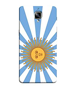ColorKing Football Argentina 17 Multicolor shell case cover for OnePlus 3T