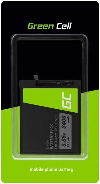 Batería interna de repuesto Green Cell BM3E compatible con Xiaomi Mi 8   Li-Ion   3400 mAh 3.8 V   Batería de reemplazo para teléfono móvil del smartphone   Recargable