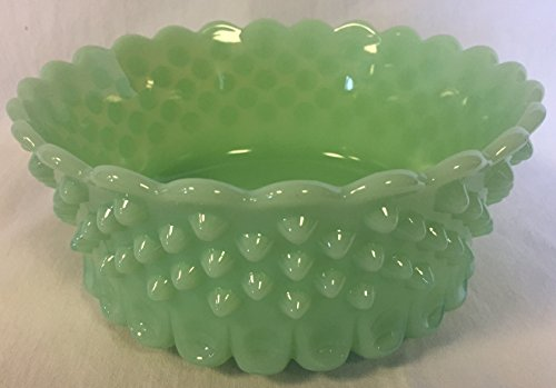 Hobnail Pattern - Bowl - American Made - Mosser USA - Fenton Art Glass mould (Jade)