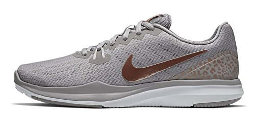 6 Nike Season in Fitness Scarpe Grey 004 Trainingsschuh Mtlc Atmosphere Grigio da Donna Damen Train qwawrXAf