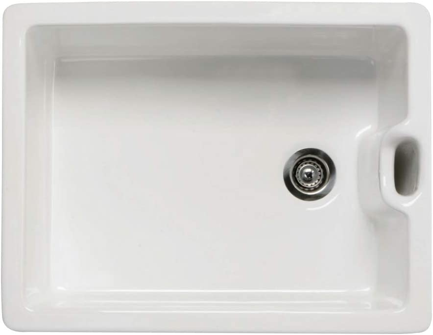 RAK Ceramics Gourmet Sink 8 Reversible 1.0 Bowl White Ceramic Belfast Kitchen Sink