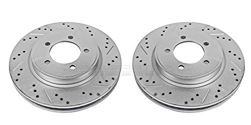 Power Stop AR82112XPR Front Evolution Drilled & Slotted Rotor Pair