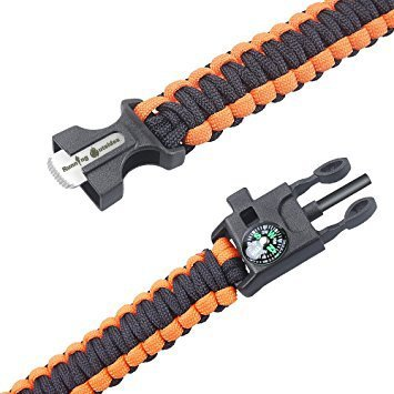 Running-Outsides--Emergency-paracord-bracelet-The-Utimate-Survival-Gear-kit-with-fire-starter-Embedded-Compass-Emergency-Knife-Loud-Whistle-Quick-Release-for-backpacking-hiking-camping