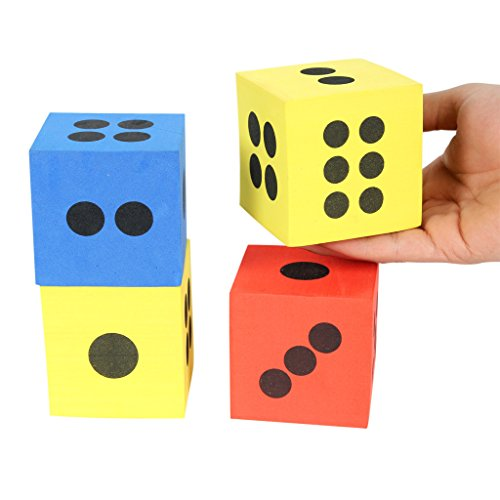 Foam Playing Teaching Math Dice Pack of 12 by OUBEI