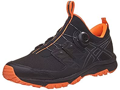 ASICS Men's Gel-Fujirado Black/Carbon/Orange 6 D US