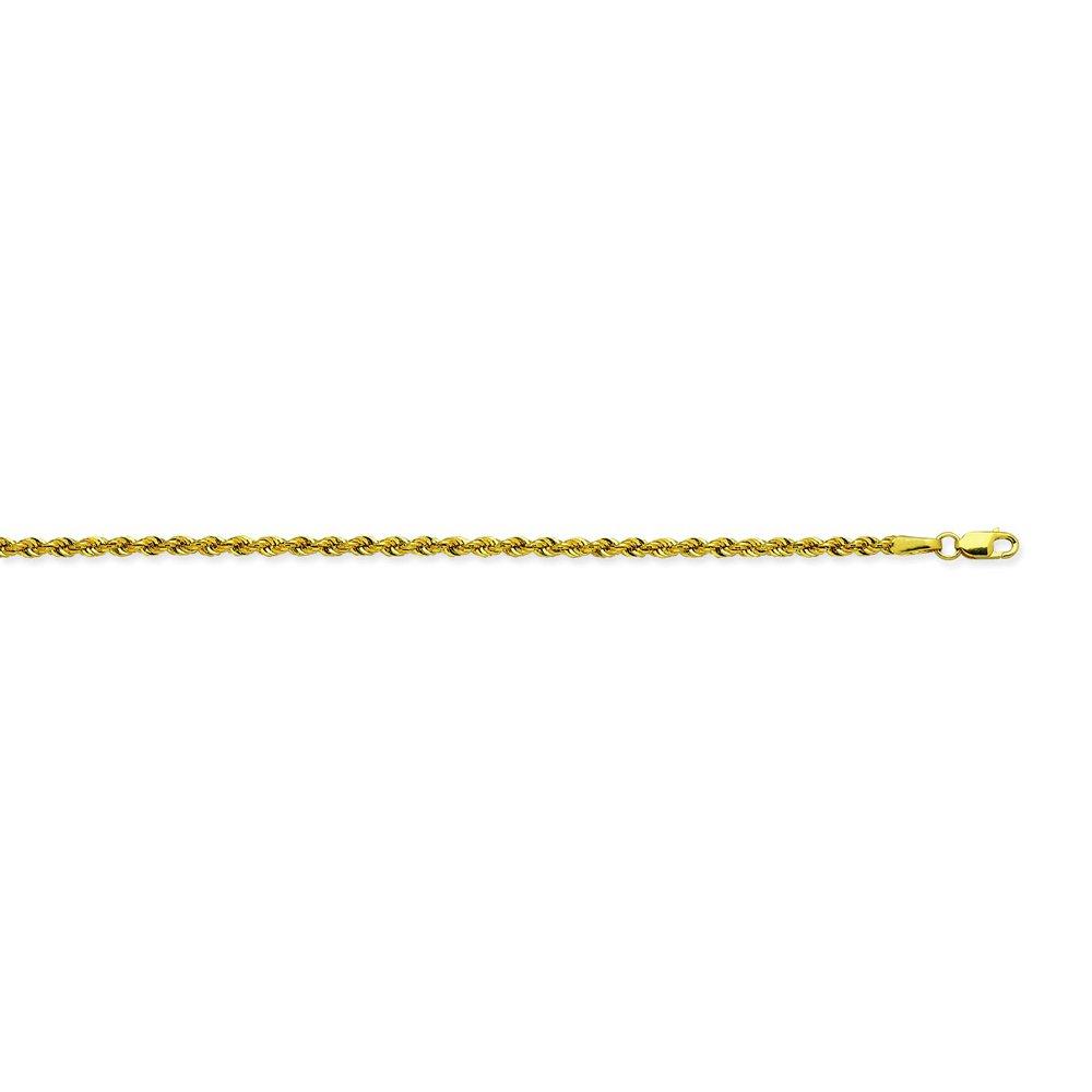 22 inch 20 inch 30 inch 24 inch 14K Yellow Gold 2.3 Light Rope Chain in 18 inch