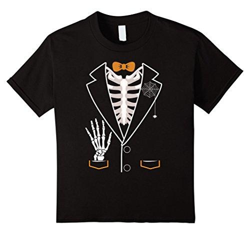 Kids Bones Tuxedo Skeleton Halloween 2017 Costume Kids T-Shirt 8 (Crazy 8 Halloween Costumes 2017)