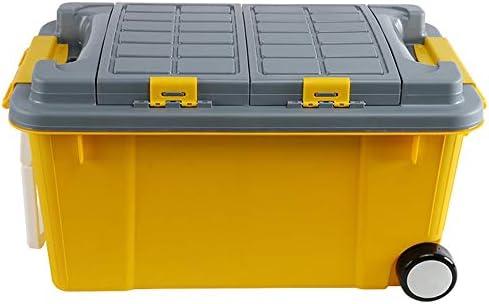カーオーガナイザートランク ふた付きのストレージビン - キャンプ、釣り、アウトドアアクティビティに適して荷物のためのタイロッドプラスチック製の収納ボックス付きの車多機能大規模な旅行スーツケース -カーアクセサリー (Color : #04)
