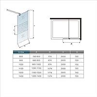 Pantalla Panel Fijo Cristal 8mm vidrio esmerilado Mate Parcial Mampara de Ducha Antical Barra 70-120cm - 110x200cm: Amazon.es: Bricolaje y herramientas
