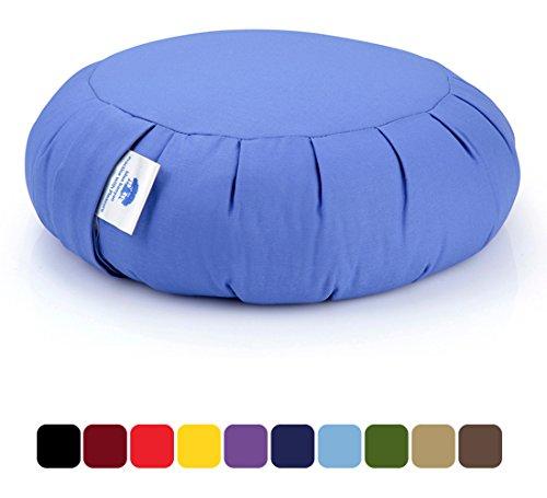 Blue Banyan Zafu Meditation Cushion Organic Buckwheat Uk Made