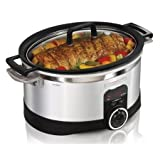 Hamilton Beach 33567 Automatic 6 Qt. Digital Programmable Stove-top Slow Cooker
