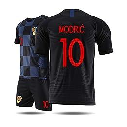 WLDSH T-Shirt de Sport de Maillot de la Coupe du Monde de la Croatie 2018 à Manches Courtes Costume Costume de Football (Couleur : B, Taille : M)