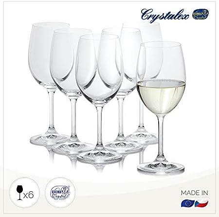Crystalex - Juego de copas de vino blanco de 177 - 334 ml, irrompibles, duraderas y sin plomo, juego de copas de vino – Universal Fancy & Long