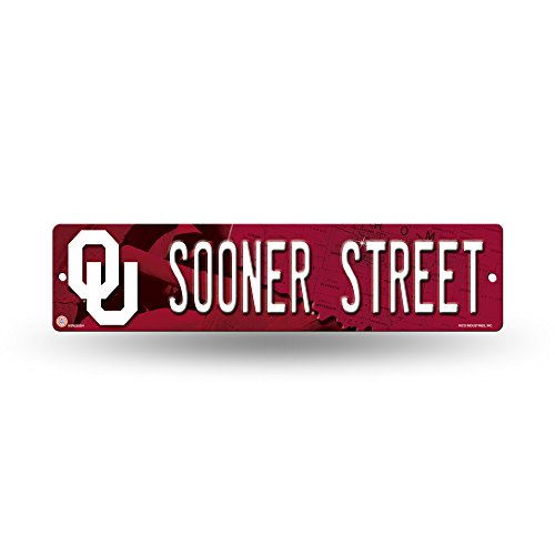 Rico NCAA Oklahoma Sooners 16-Inch Plastic Street Sign ()