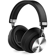 Miracle&Lesoul A7 Over Ear Bluetooth Headphones with Microphone, Wireless and Wired Hi-Fi Stereo Bass Foldable Headset, Soft Memory-Protein Earmuffs, 25 Hours Playtime for Trave/Work/TV/PC/Phone,Black