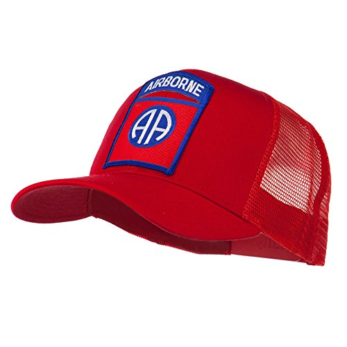 82nd Airborne Military Patched Mesh Cap - Red OSFM (Airborne Division 173rd)