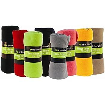 Super Soft Cozy Fleece Throw Blanket - 50x60 Fleece Blanket (Assorted Colors)