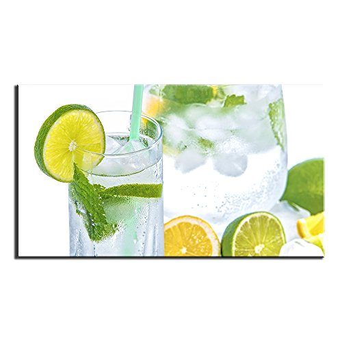 Unframed Modern Drink Lemon Lime Mint Print on Canvas Painting for Home Wall Art Decor Living Room Bedroom -