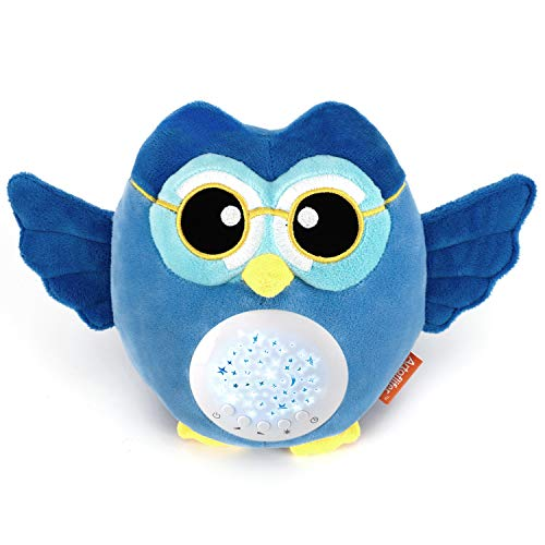Artoflifer HugMe - Baby Sound Machine | White Noise Machine | Baby Nursery Night Light Projector | Portable Baby Sleep Soother | Blue Stuffed Owl Toy | Sleep Aid with ()