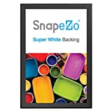 SnapeZo Movie Poster Frame 27x41 Inches, Black 1.7' Aluminum Profile, Front-Loading Snap Frame, Wall Mounting, Wide Series