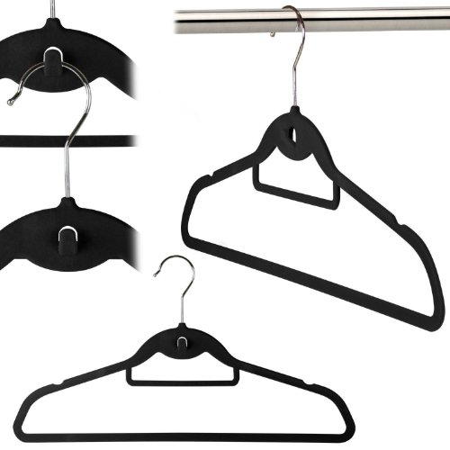 Flocked Velvet Non Slip Hangers Trouser