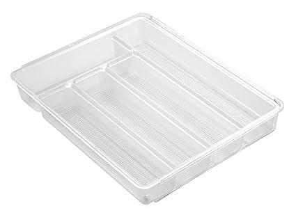 mDesign Cubertero para cajones de cocina extensible – La bandeja para cubiertos perfecta – Ideal para guardar cucharas, cuchillos, tenedores y otros ...
