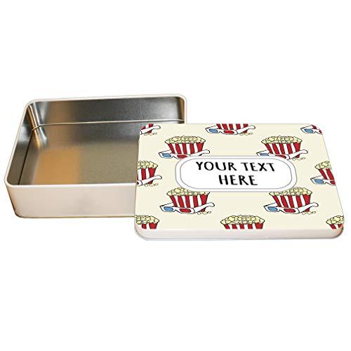 Aluminum Metal Tin Custom Popcorn Seemless Pattern Adults Trinket Box -2.75