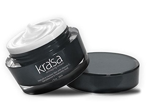 Krasa Anti-Aging Cream for Fines Lines & Wrinkles- Improves Skin Radiance, Texture and Skin Tone with COCOA SEED BUTTER, TOMATO FRUIT EXTRACT, PYRUS MALUS (APPLE) EXTRACT