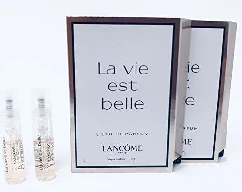 2 Lancome La Vie Est Belle L'eau de Parfum Sample Spray 0.04 fl. oz each