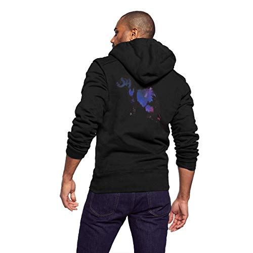 Sportswear Full Zip Up Club Fleece Hoodie Midweight Zip Front Hooded Sweatshirt Jacket for Men Man - Animal Galaxy Ferret -