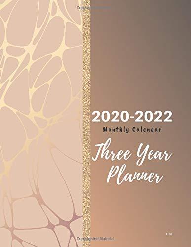 2020-2022 Monthly Calendar Three Year Planner Trail: 2020 ...