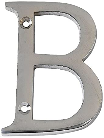 Bulk Hardware BH03003 Numeral - No 50mm Polished Chrome 2 inch 4