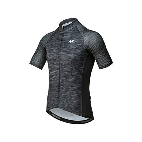 Mysenlan Men s Cycling Jersey Short Sleeve Shirts Bike Bicycle Breathable  Riding Sports Jerseys Black M aca7f366d