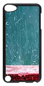 iPod 5 Case Splashing Rain702 PC Custom iPod 5 Case Cover Black