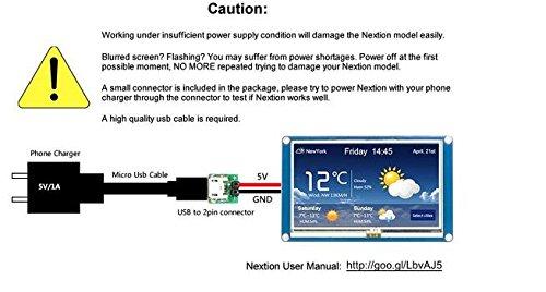 Nextion 2 8inch Enhanced HMI Touch Display Module TFT Touch Panel for  Arduino Raspberry Pi (2 8'') NX3224K028 …