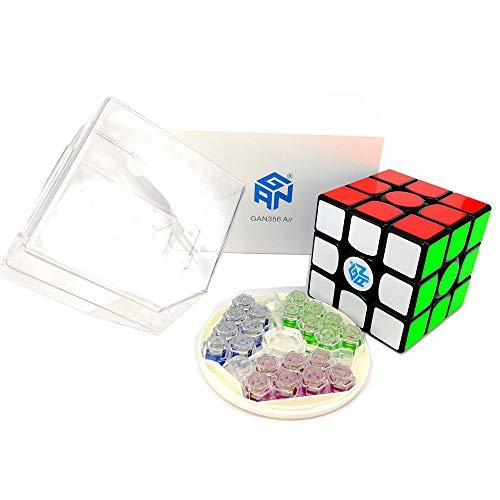 CuberSpeed Gans 356 Air (Master) 3x3 Black Magic Cube Gan 356 Air (Master)  3x3x3 Speed Cube with New Blue Core