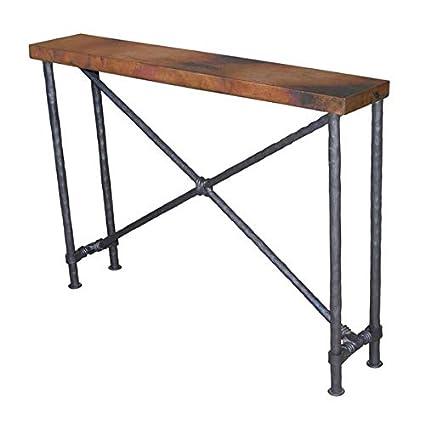 Amazing Amazon Com Metal Console Table With Cross Textured Machost Co Dining Chair Design Ideas Machostcouk