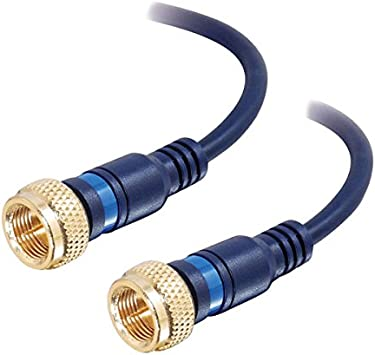 12 Feet Blue C2G//Cables to Go 27228 Velocity Mini-Coax F-type Cable