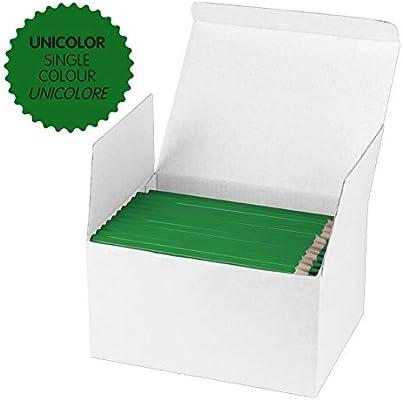 Milan - Caja 144 lápices de color verde oscuro MAXI hexagonal: Amazon.es: Oficina y papelería