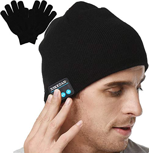 XIKEZAN Upgraded Unisex Knit Bluetooth Beanie Hat Headphones V4.2 Unique Christmas Tech Gifts for Men/Dad/Women/Mom/Teen Boys/Girls Stocking Stuffer w/Built-in Stereo Speakers (Christmas Men Ideas Gift Cool For)