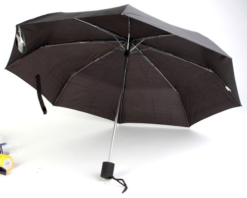 The Weather Station 42-Inch Auto Open Compact Folding Umbrella, Black - Pack of 24 by Chaby