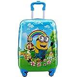 Minions Travel Luggage Trolley Bag For Kids on wheels Boarding Box 18inch