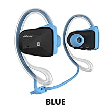 Jabees Bsport Bluetooth Earphone Runner Headset Sports Earphones with Mic Wireless Headphones for Running and Lifetime Sweatproof Guarantee (Blue)