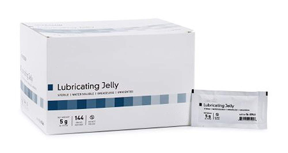 864 Packets of Lubricating Jelly. 5 Gram in a Packet. Lubricant Jelly in Individual Packets for Medical procedures. Latex-Free. Sterile, Water Soluble, greaseless, unscented. by AMZ Supply (Image #1)