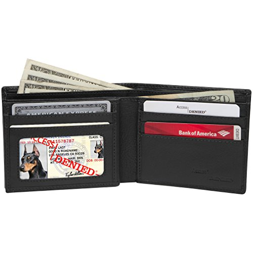 Access Denied Leather Electronic Pocketing