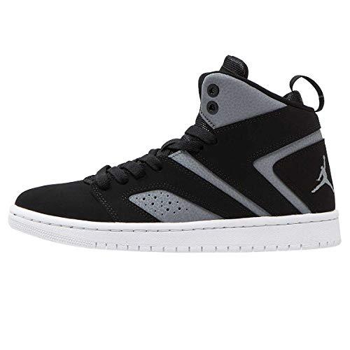 Jordan Mens Flight Legend Hight Top Lace, Black/Black-Cool Grey-White, Size 10.0