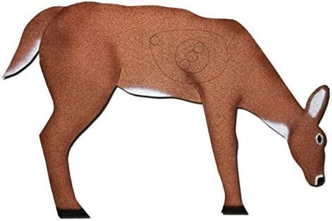 OncoreターゲットFeeding Deer W/Antlers self-healingアーチェリーターゲット、ブラウン、ホワイト、d4-ant