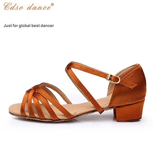 In Stock Fast Shipping Children Latin/Modern/Kids Sneakers Dance Shoes Girls Shoes Ballroom Salsa Shoes light tan 5.5 by Dance shoes (Image #2)
