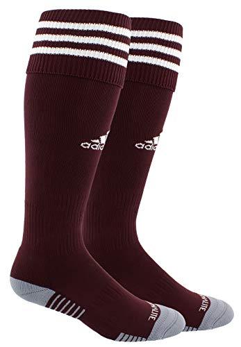 adidas Unisex Copa Zone Cushion III Soccer Socks (1-Pair), Maroon/White, 9-13